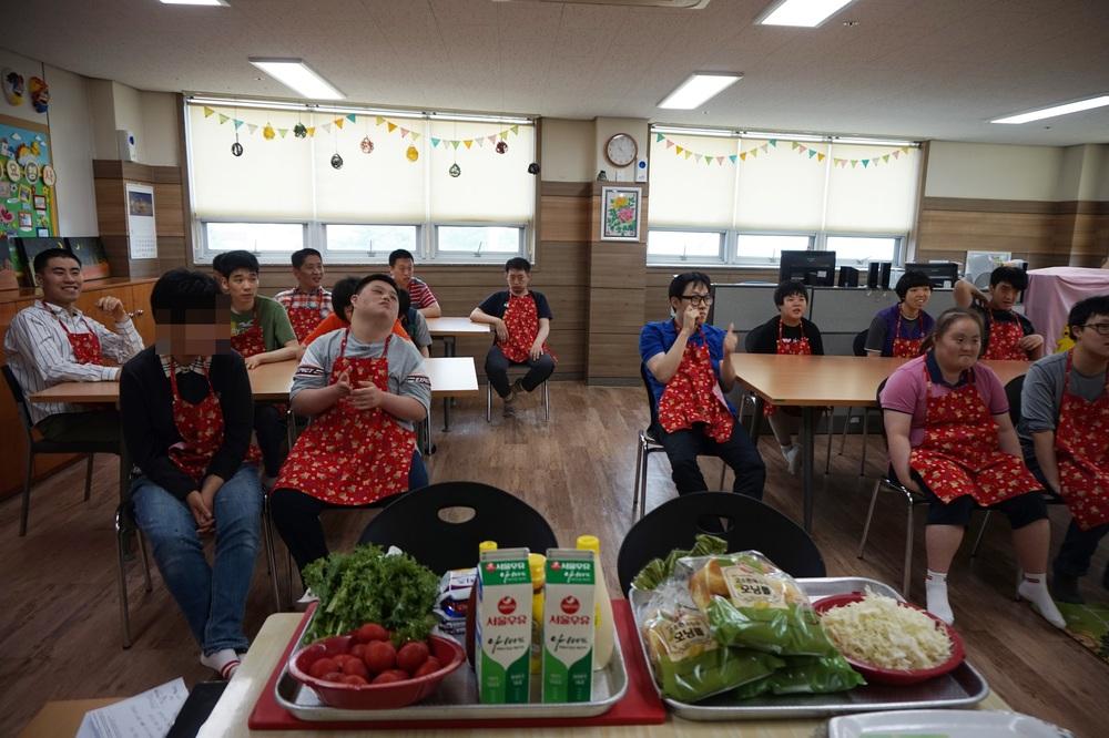 장애인주간보호시설 요리활동